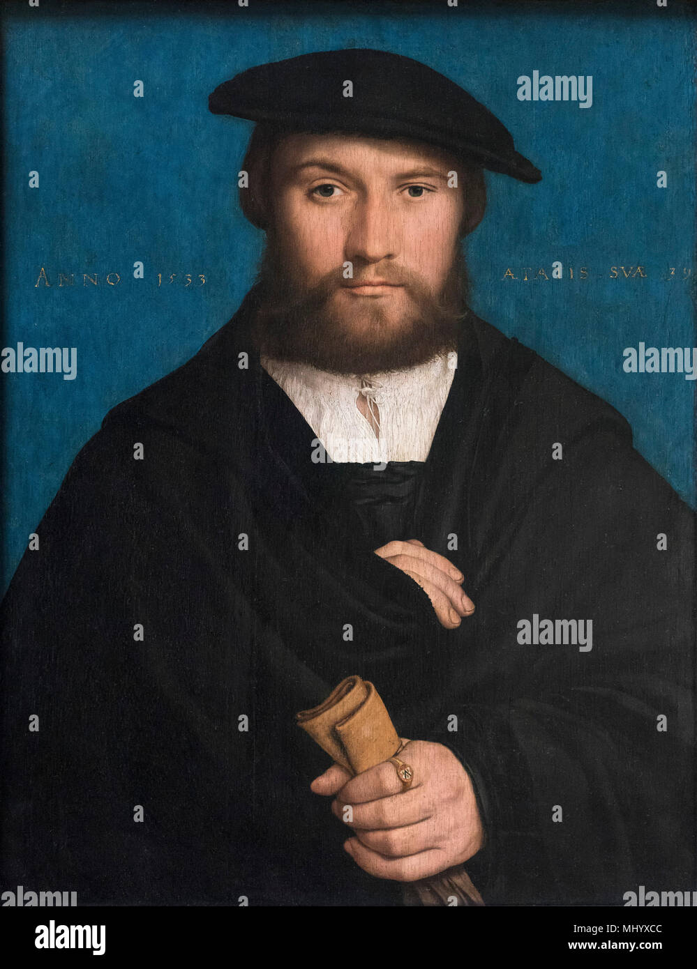 Hans Holbein the Younger (1497-1543), Portrait of a member of the von Wedigh family, possibly Hermann Hillebrandt von Wedigh, 1533. - Stock Image
