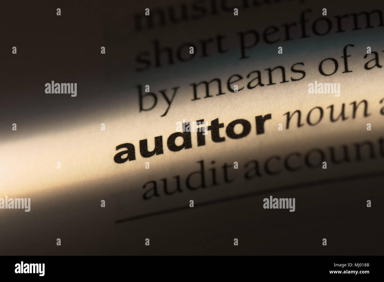 auditor word in a dictionary. auditor concept. - Stock Image