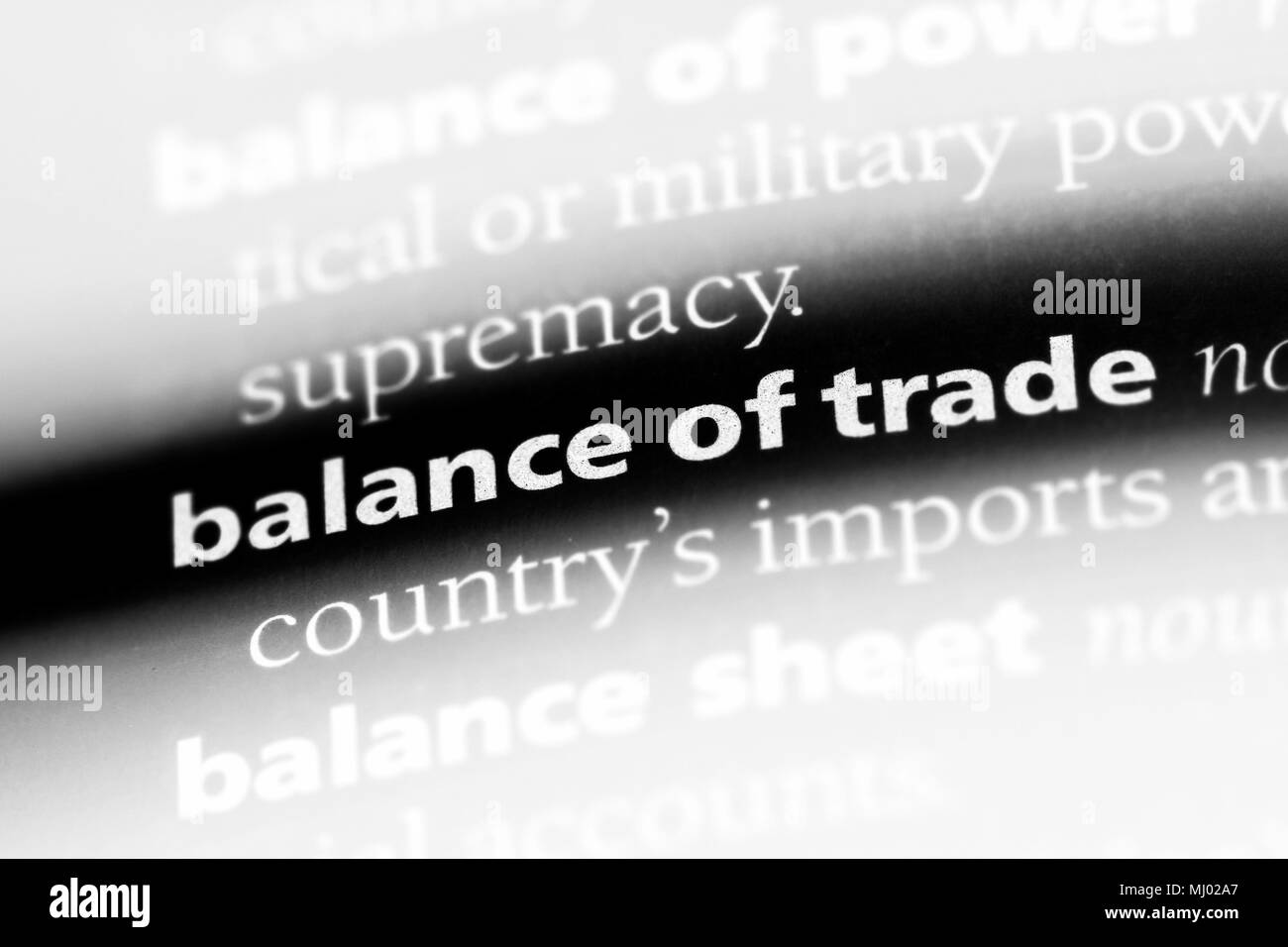 balance of trade word in a dictionary  balance of trade