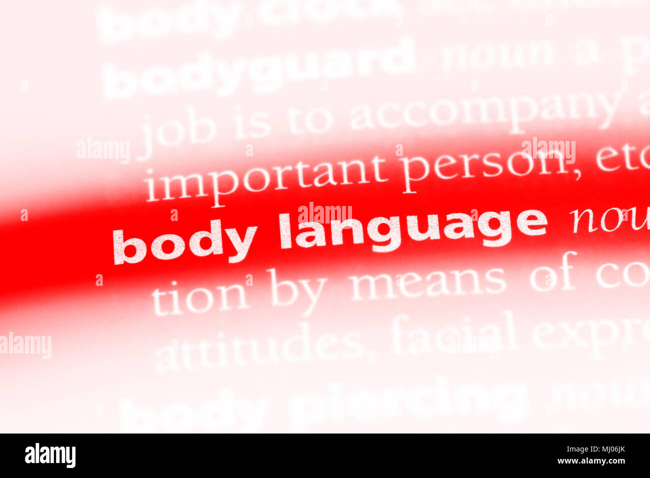 body language word in a dictionary. body language concept. - Stock Image