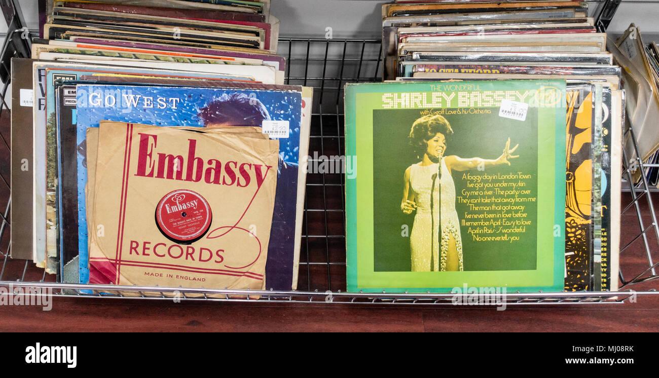 vinyl records - Stock Image