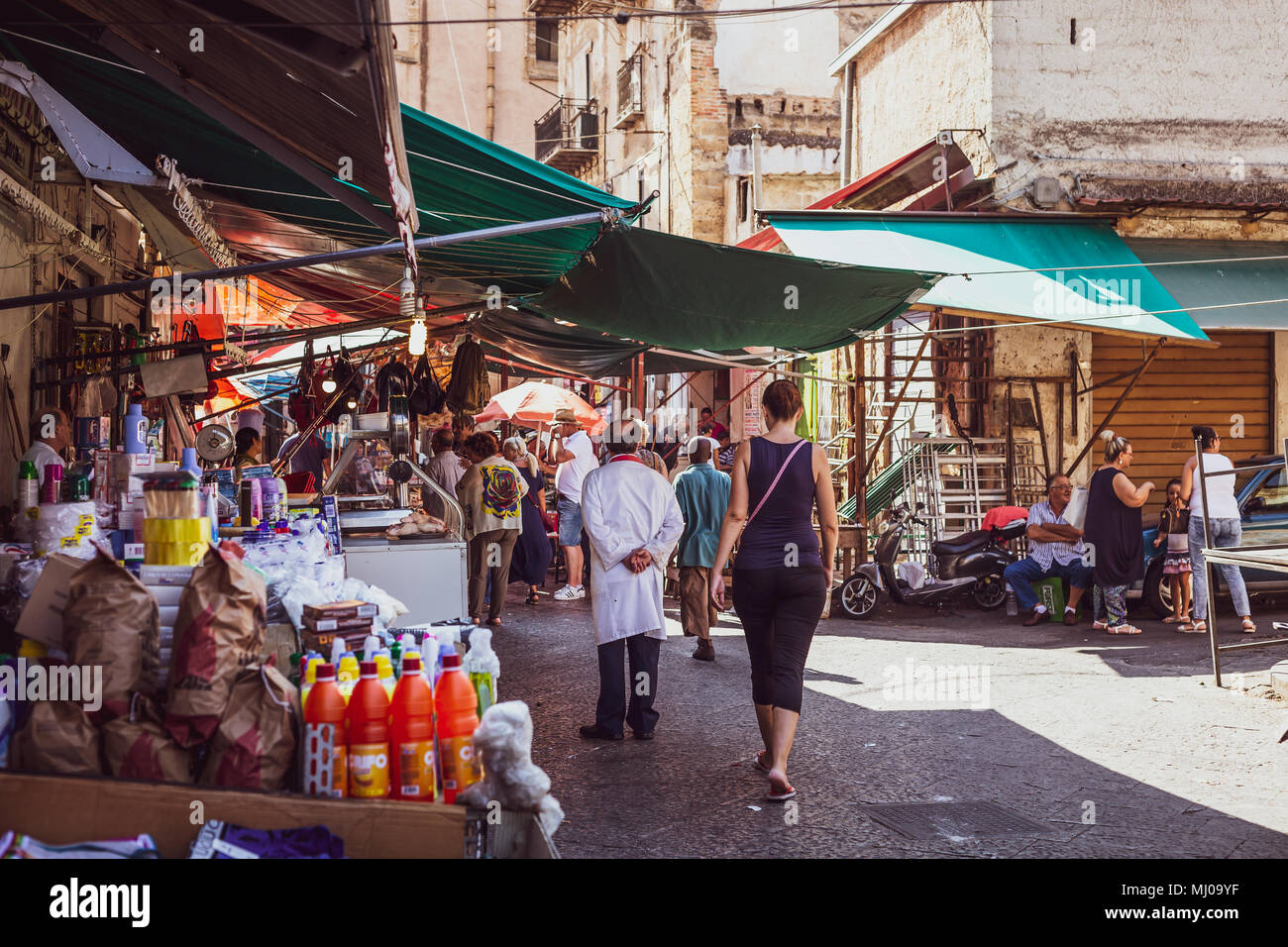 Palermo, Ballarò market, Sicily, Italy - Stock Image