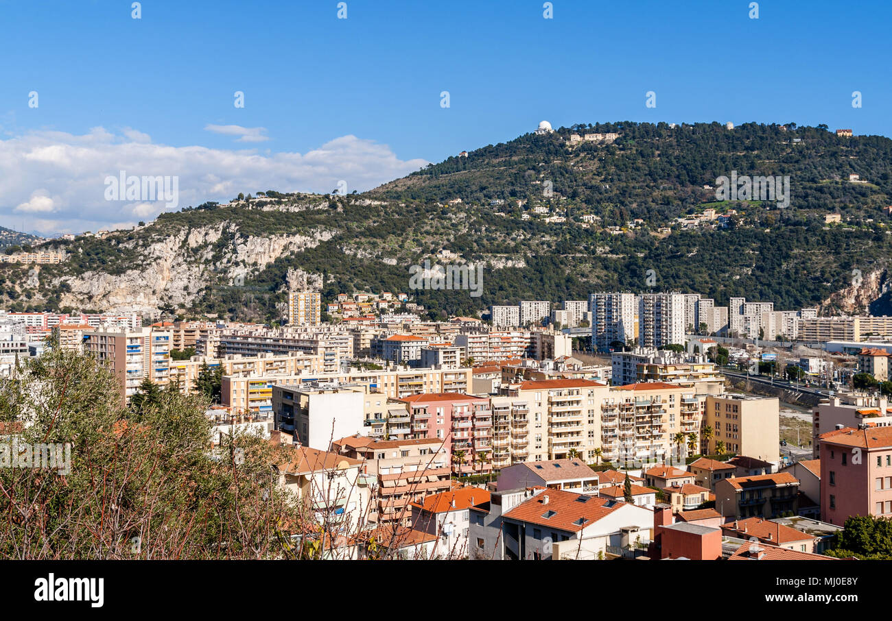 Residential buildings in Nice - France Stock Photo