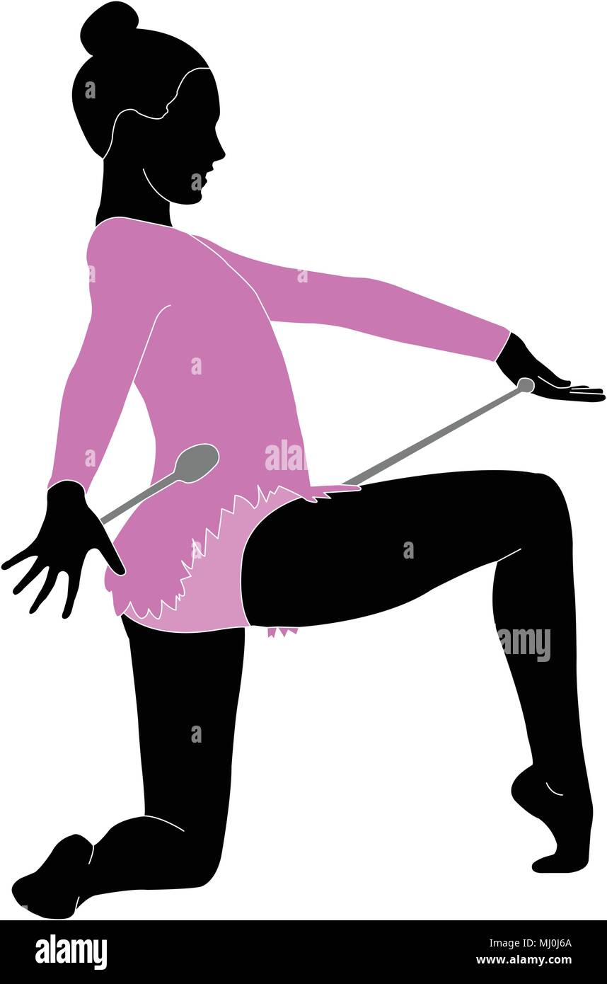 rhythmic gymnastics dancer - vector - Stock Vector