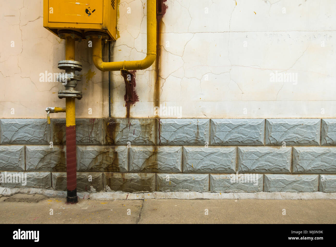 Chinese Pipeline Networks of Tap Water on the Street - Stock Image