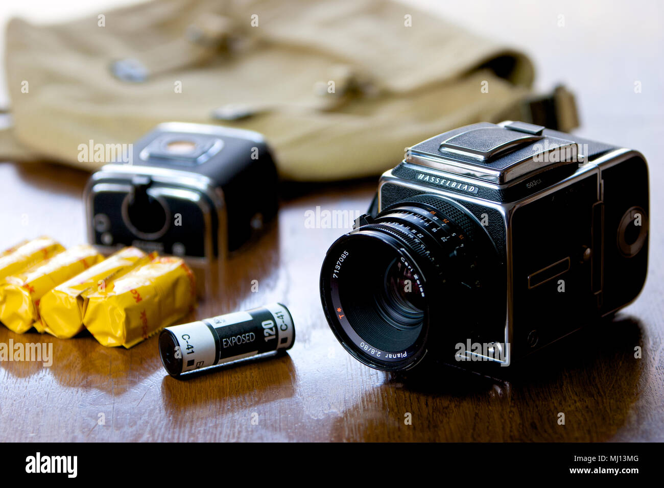 Hasselblad 503cx SLR film camera c1980 with 80mm Planer lens. - Stock Image