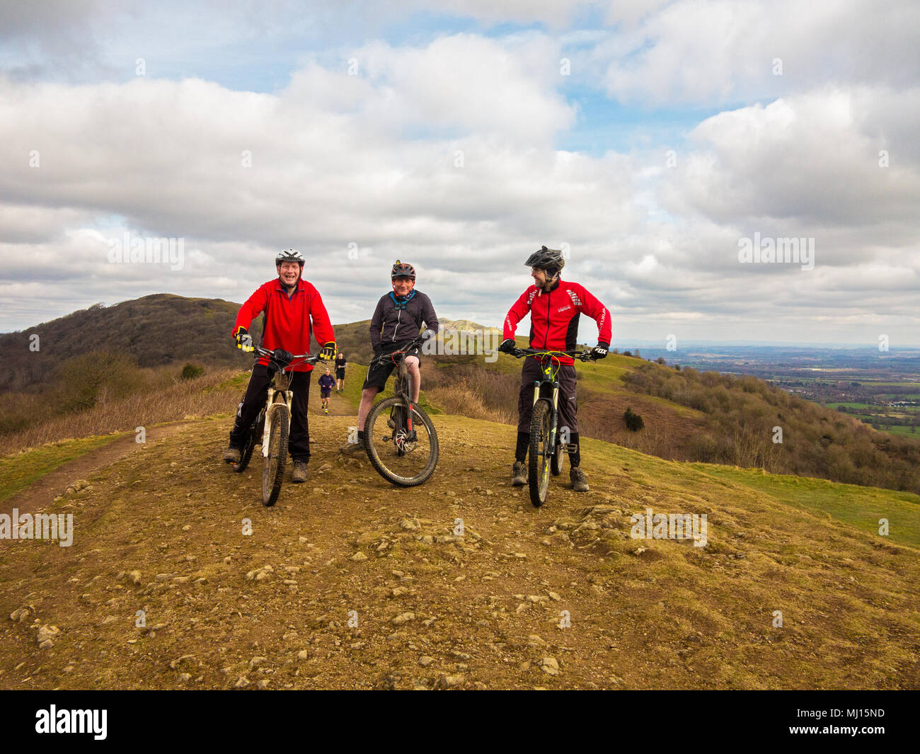 Get Off Your Bike Stock Photos Images Alamy Police Roadbike Toronto Greey Blue Men Male Road Mountain Riders Wearing Cycle Helmets Take A Rest While Riding The