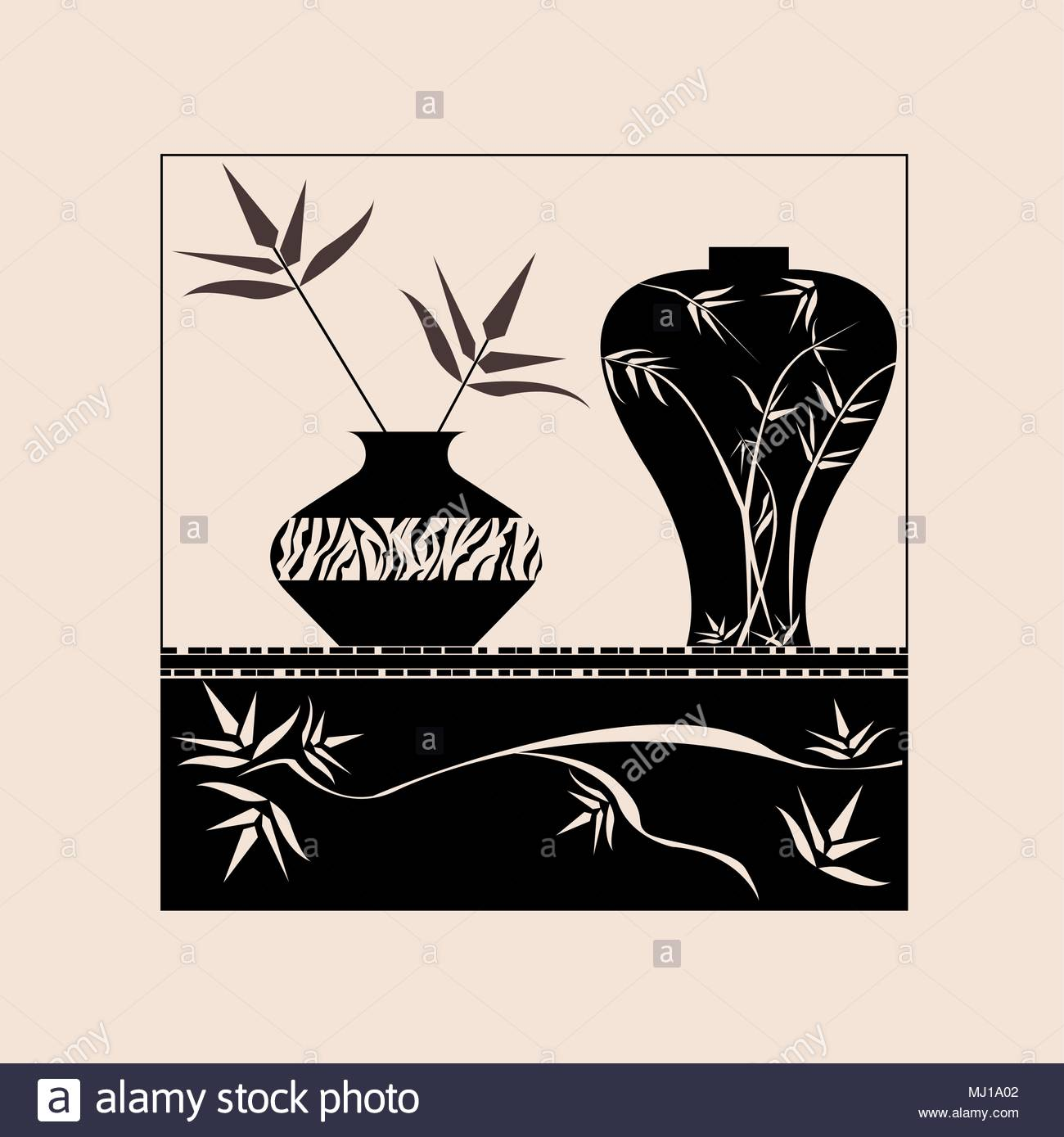 Black And White Flower Pot Texture Can Be Printed For Wall