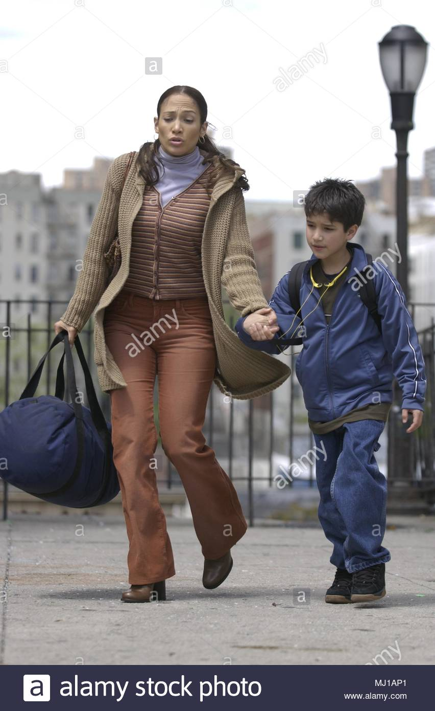 Jennifer Lopez on the set of her new film  ' The Chambermaid' currently filming in the Bronx, New York, with her costar Tyler Garcia Posey.  April 29, 2002     RTDavila / MediaPunch - Stock Image