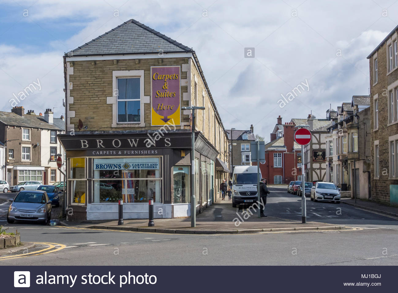 Browns, a family run furniture and carpet shop in Morecambe, Lancashire, UK - Stock Image