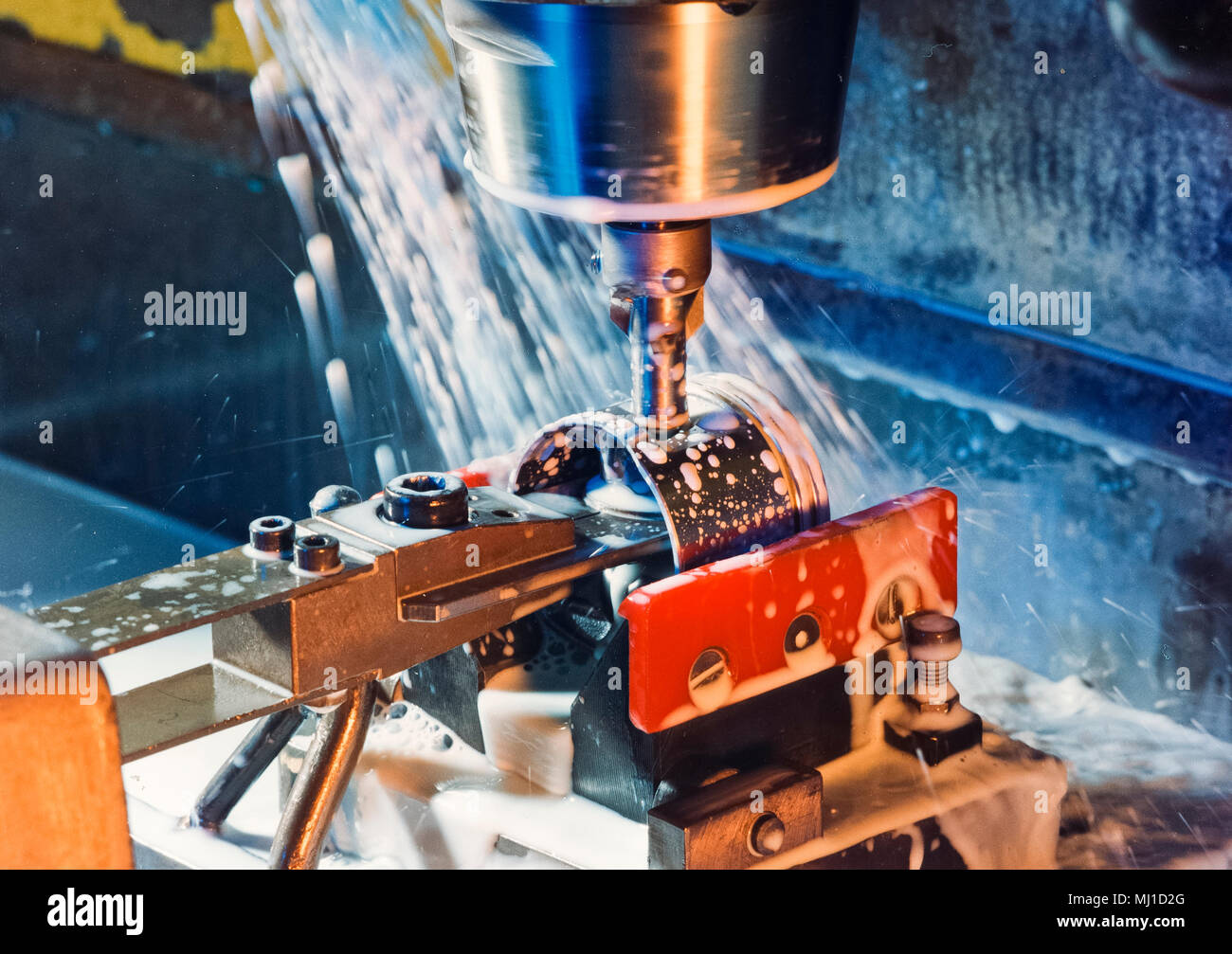 drilling machine in action - Stock Image
