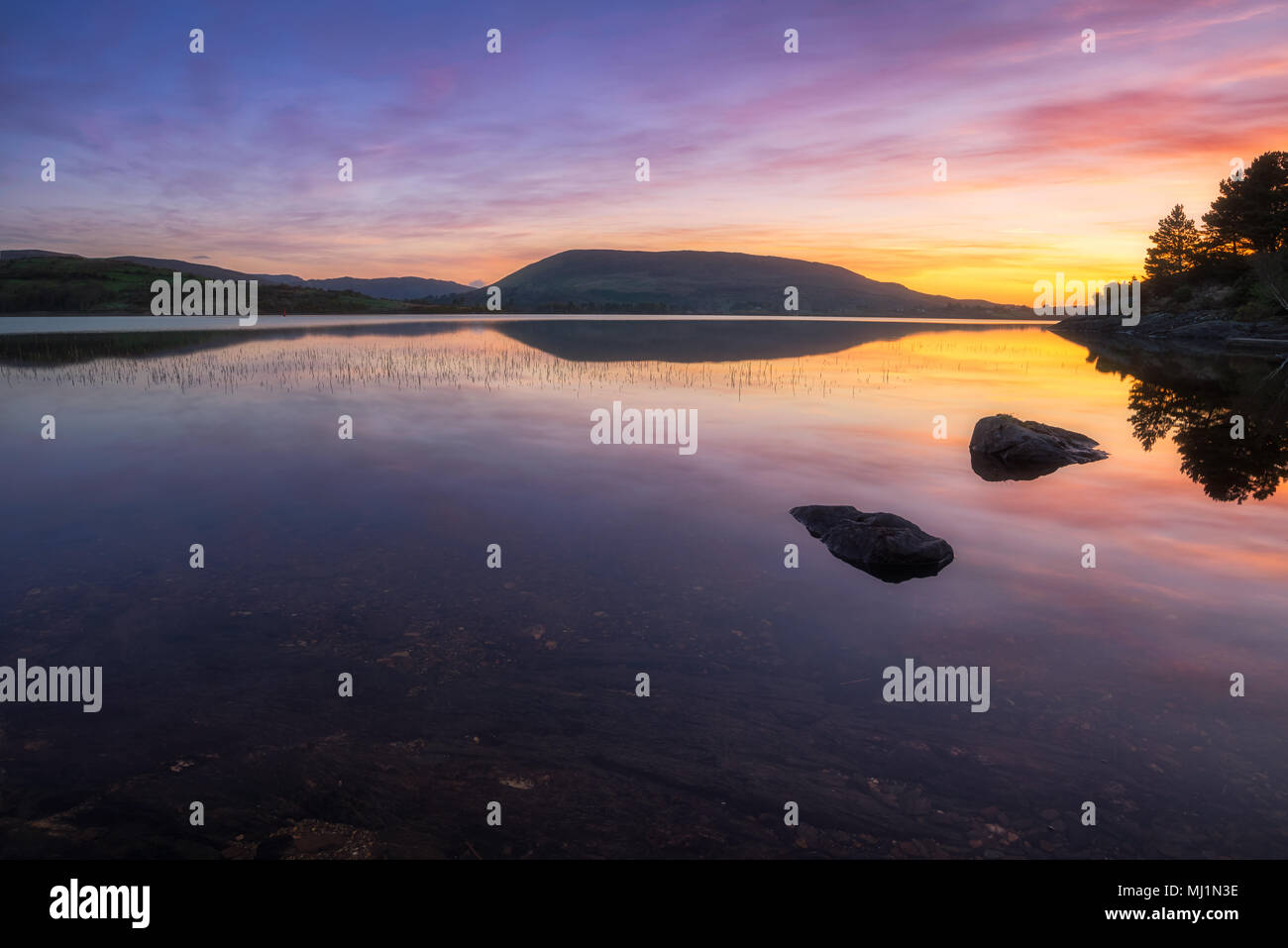 Lough Corrib in county Galway - Ireland Stock Photo