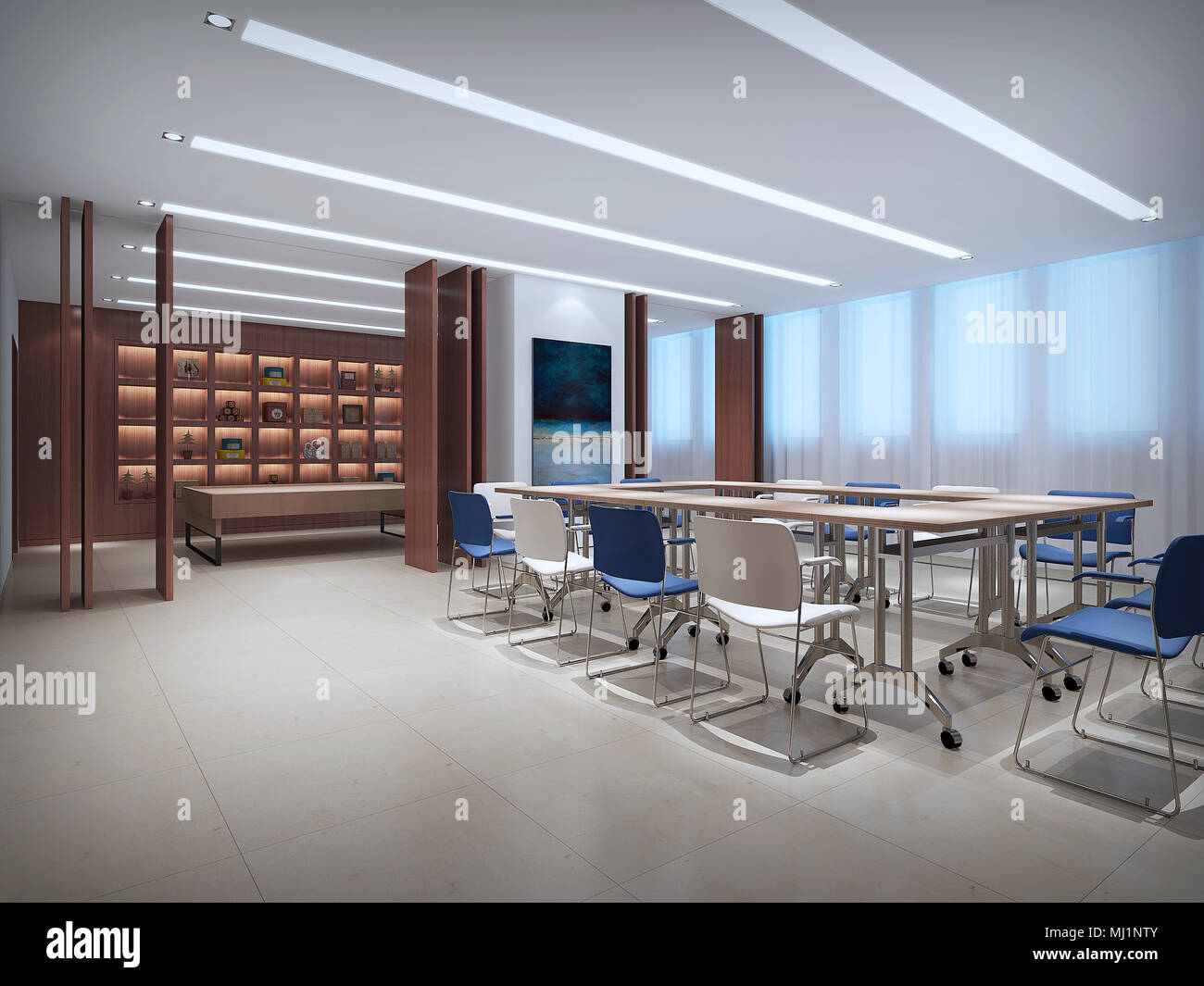 Computer graphics conference room - Stock Image