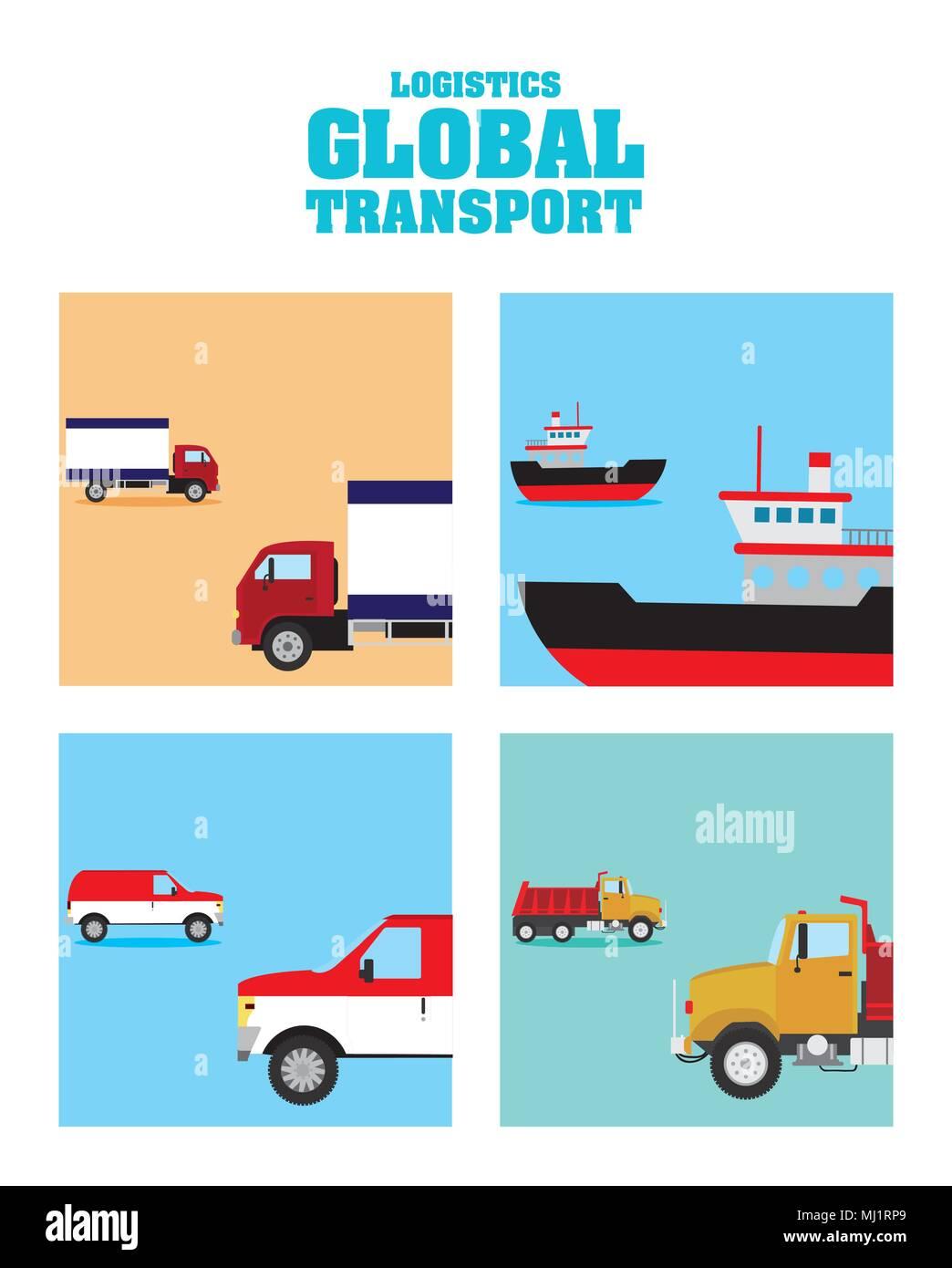 Logistic global transport concept - Stock Image