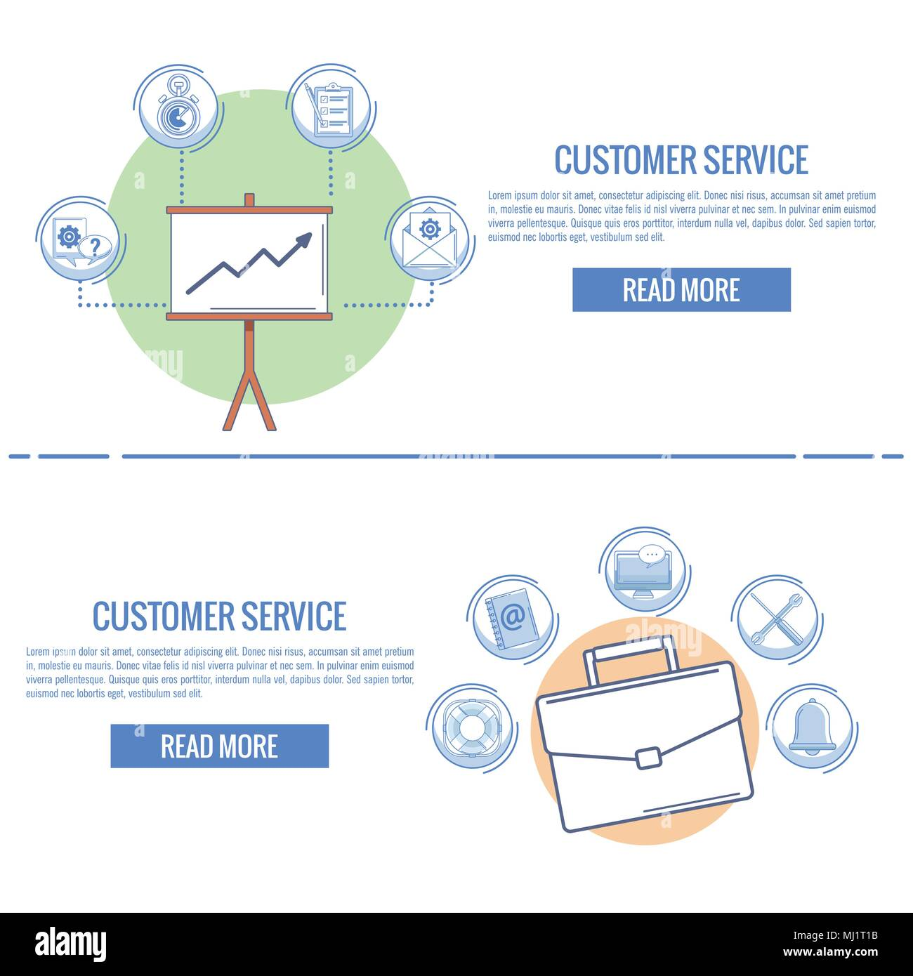 Customer service and support infographic - Stock Vector