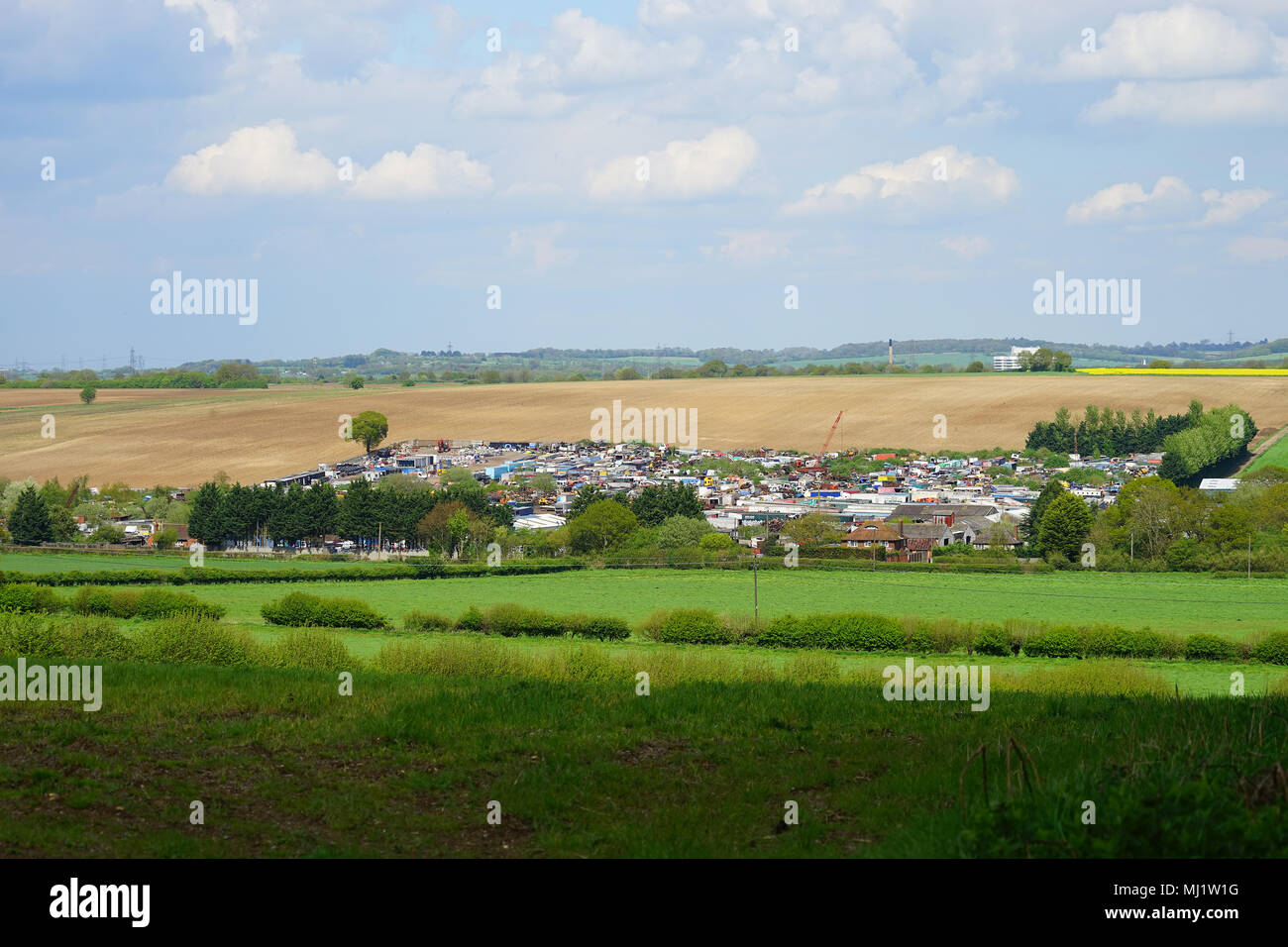 A country scrap yard - Stock Image