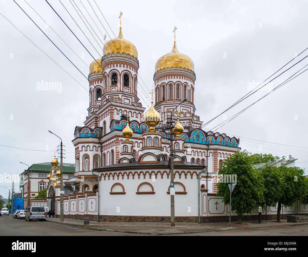 Orthodox monastery in Chernivtsi, Ukraine - Stock Image