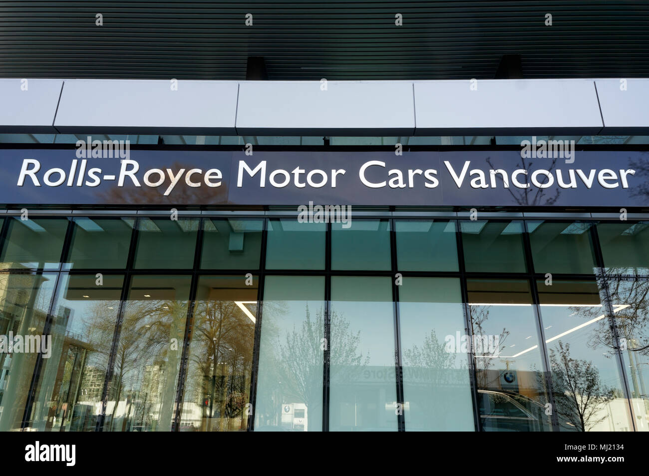 Rolls Royce Motor Cars dealership in Vancouver, BC, Canada - Stock Image