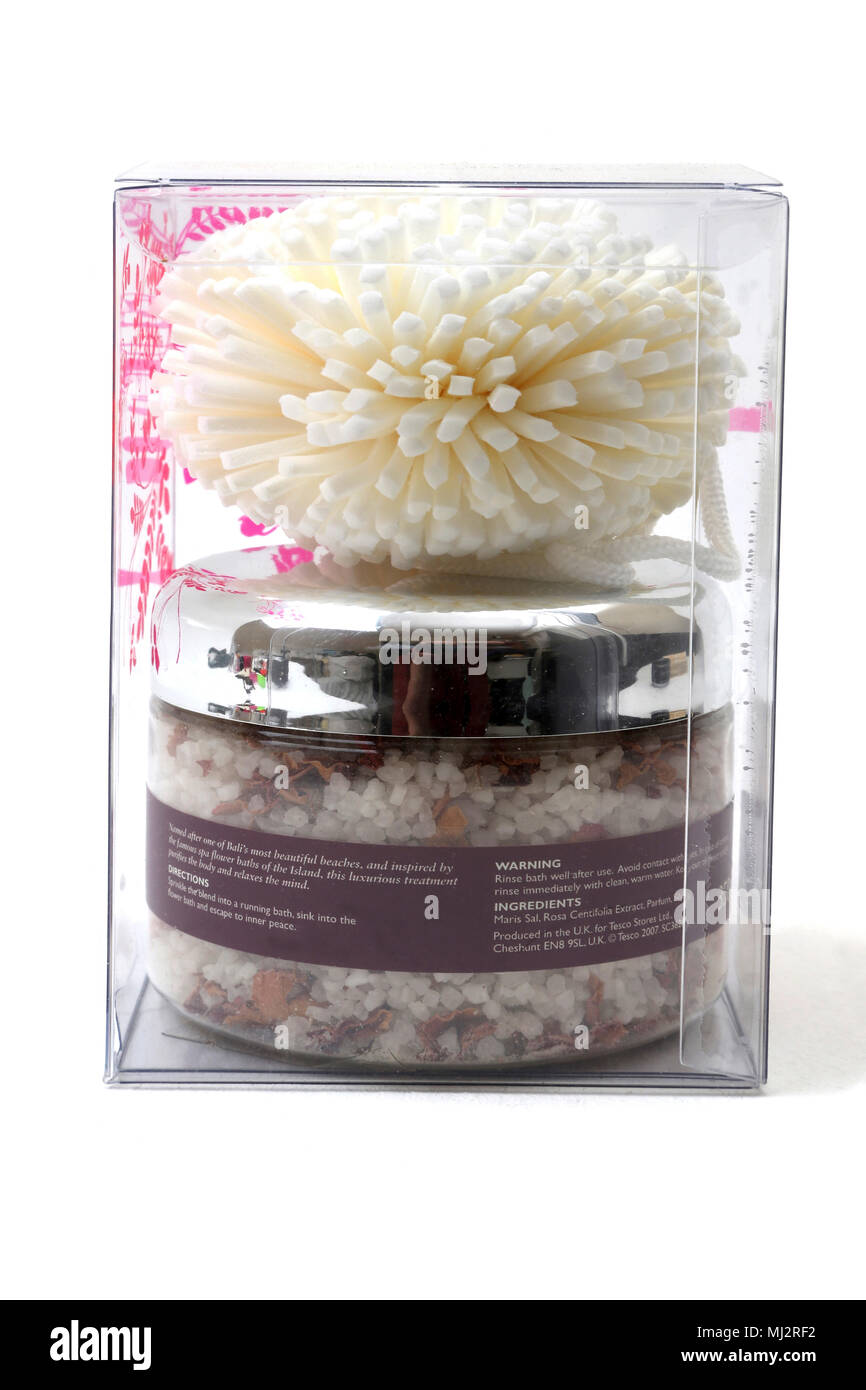 The Body Therapy Spa Sanur Flower Bath Salts and Body Puff Stock