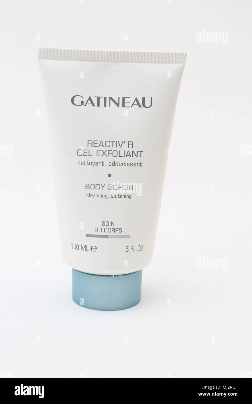 Gatineau Reactiv' r Gel Exfoliant Body Scrub - Stock Image