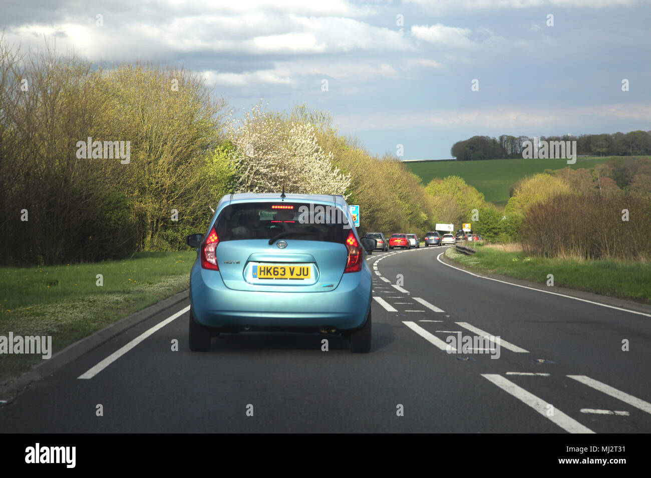 Traffic on the A303 Trunk Road England - Stock Image