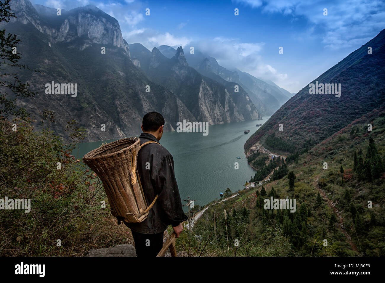 Wu gorge mountaineers - Stock Image