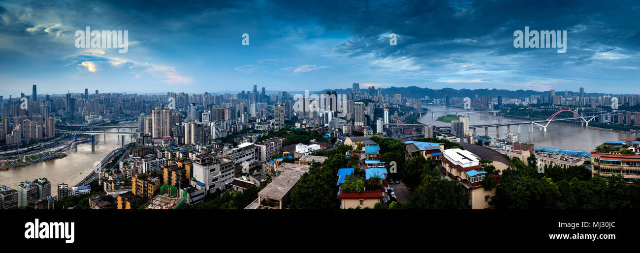 Chongqing city architecture - Stock Image