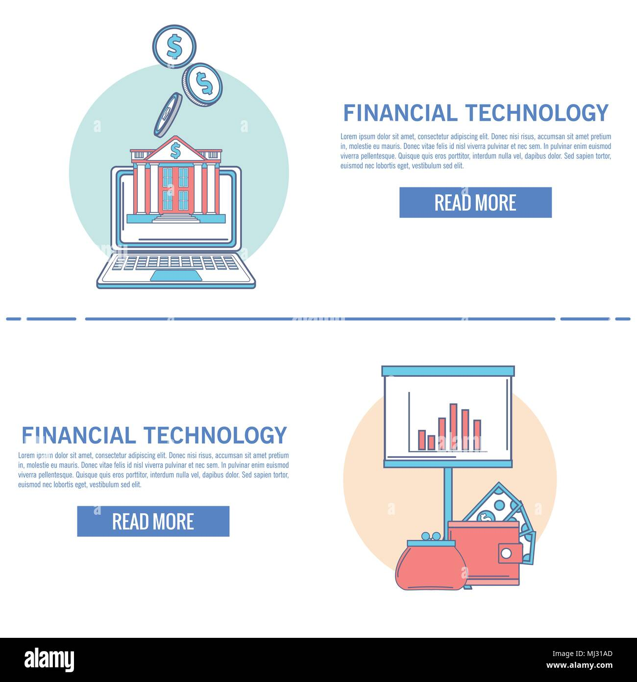 Financial technology infographic - Stock Vector