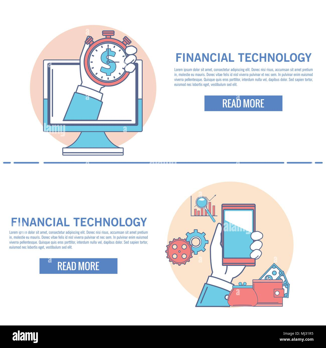 Financial technology infographic - Stock Image