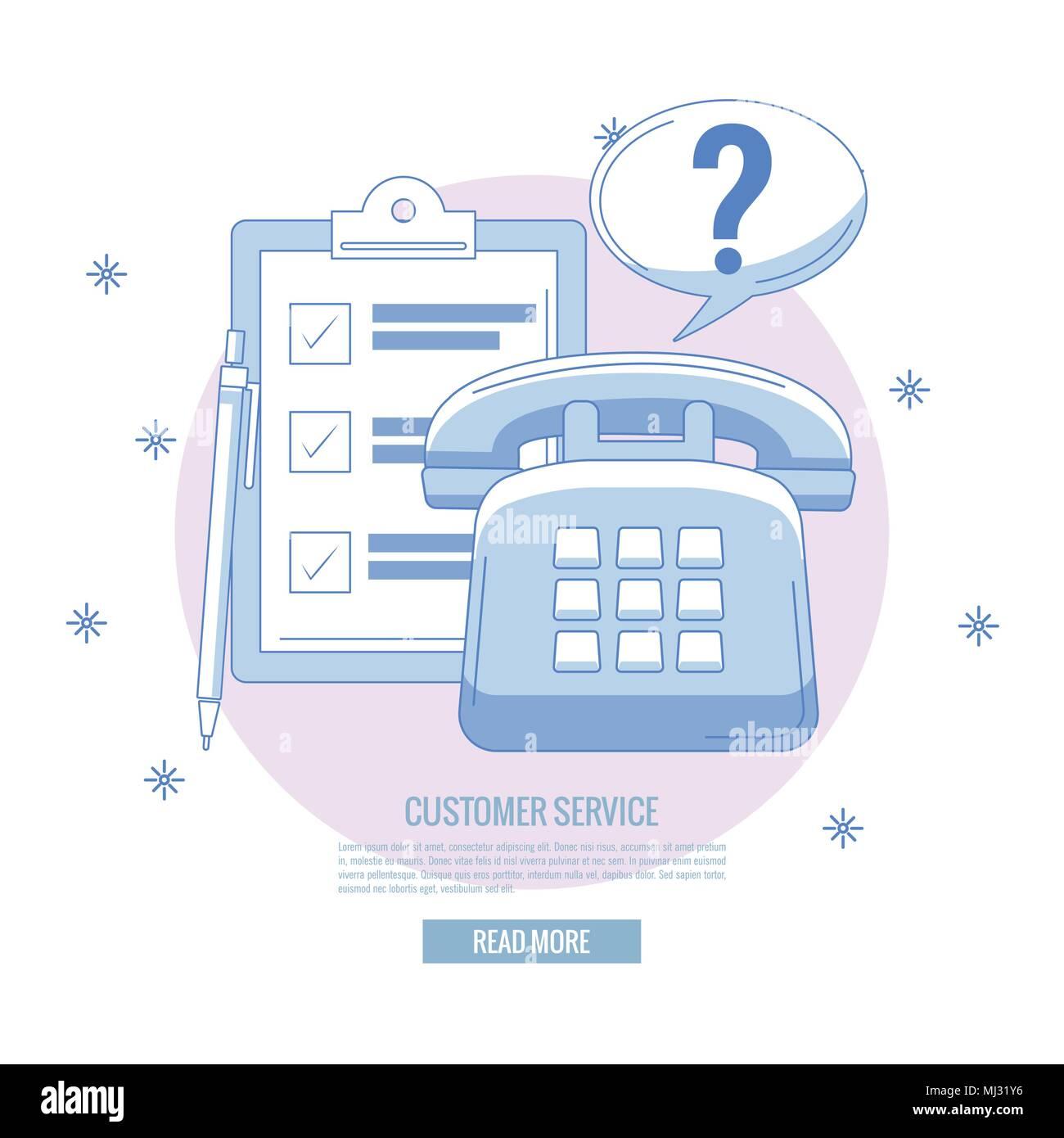 Customer service banner - Stock Image