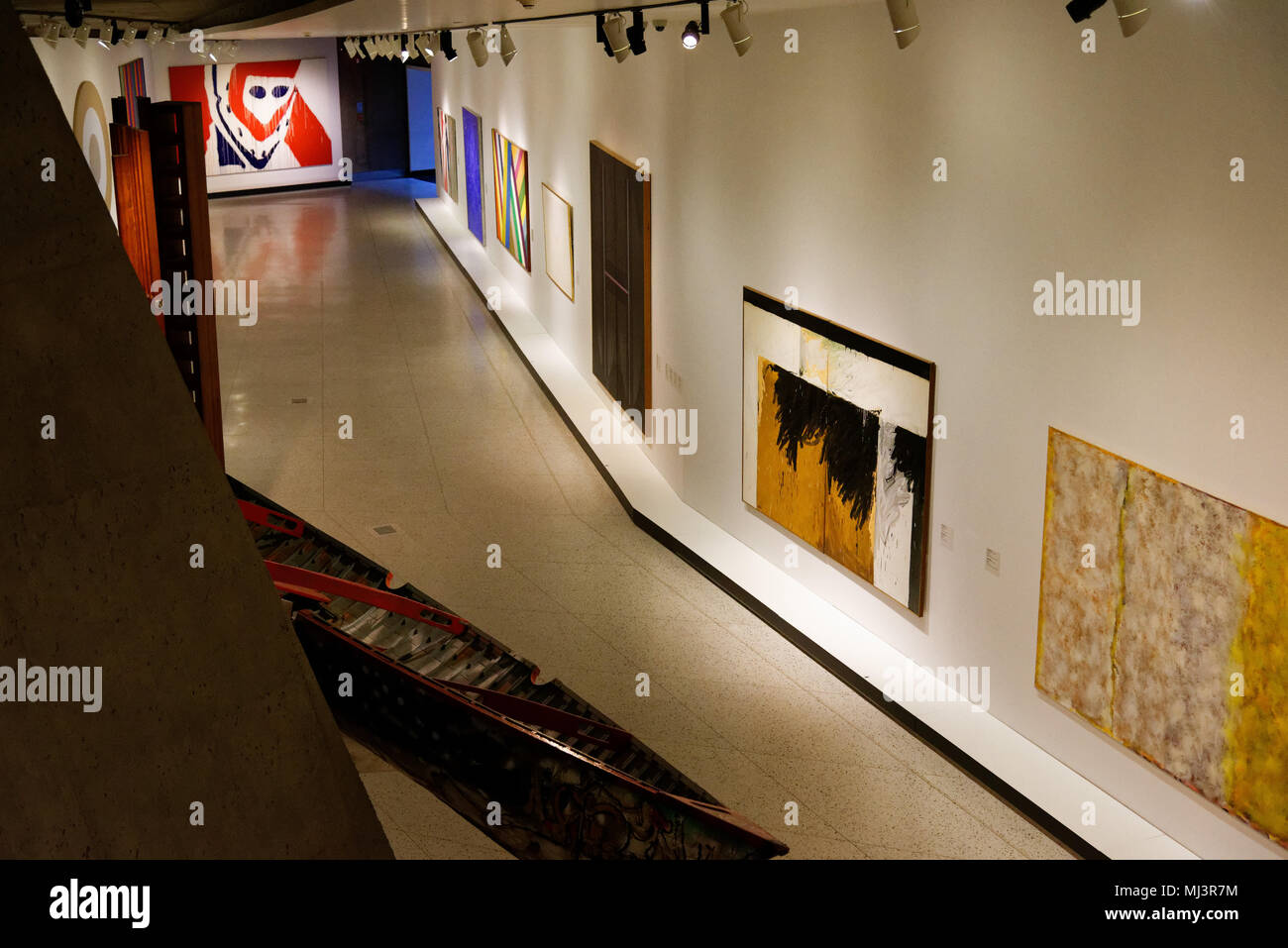 inside the Pavillon Claire et Marc Bourgie in the Montreal Fine Arts Museum - Stock Image