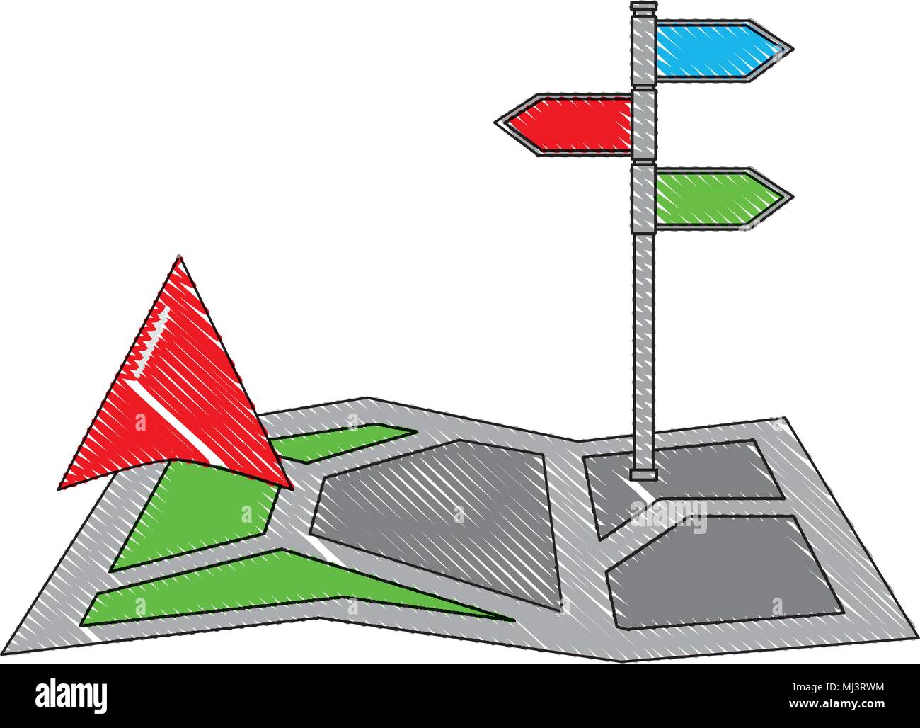 Gps Navigation Map Arrow And Stand Position Image Vector Illustration Drawing Stock Vector Image Art Alamy Most arrows are able to be used to trade and have different values. alamy