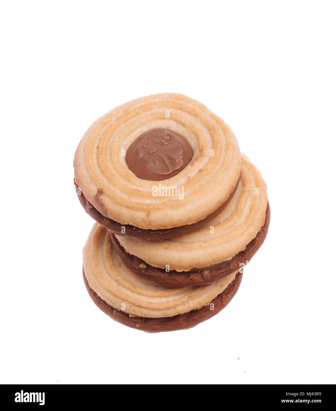 Stacked sandwich biscuits - Stock Image