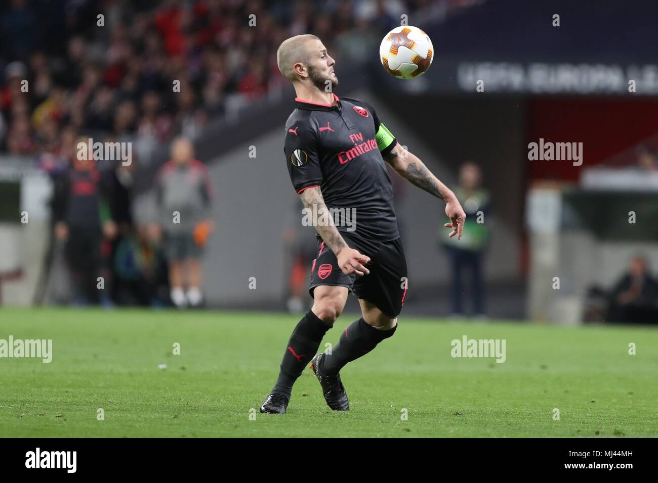 Madrid, Spain . 3rd May 2018. Jack Wilshere (FC Arsenal)  during the UEFA Champions League, semi final, 2nd leg football match between Real Madrid and Bayern Munich on May 1, 2018 at Santiago Bernabeu stadium in Madrid, Spain - Photo Laurent Lairys / DPPI Credit: Laurent Lairys/Agence Locevaphotos/Alamy Live News - Stock Image