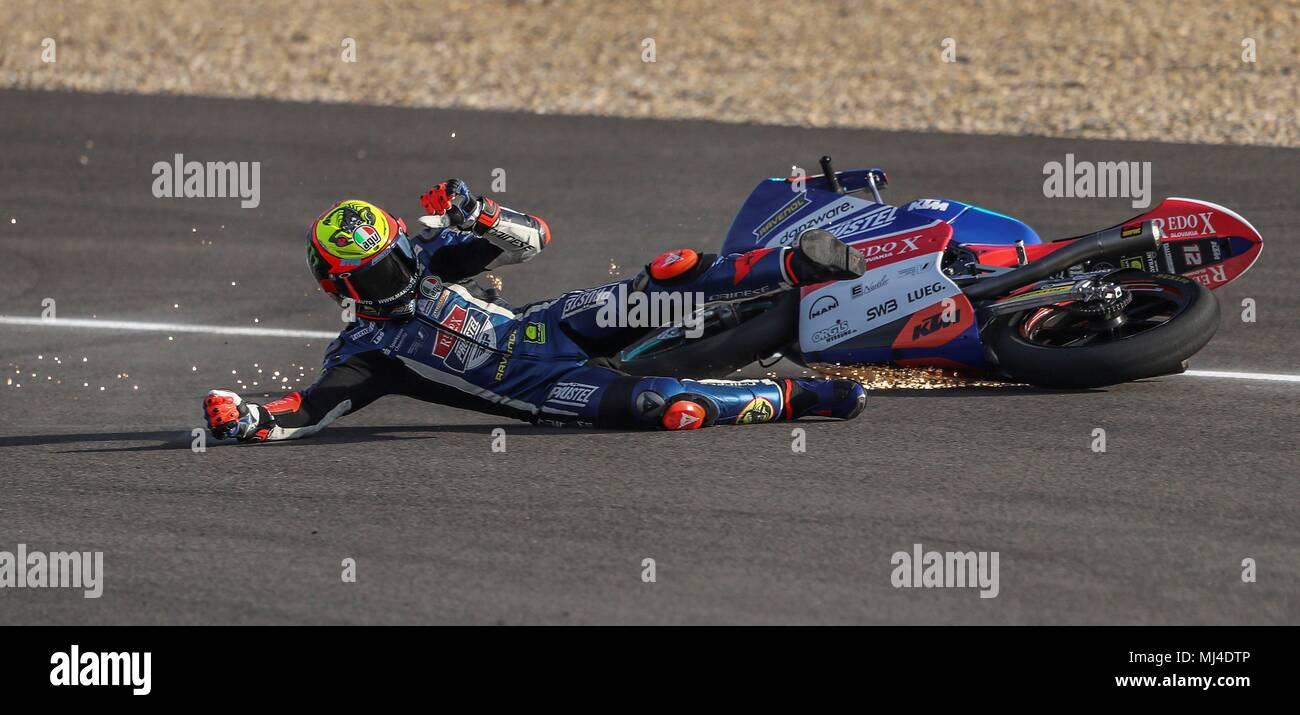 Italian Moto3 rider Marco Bezzecchi of Redox Pruestel team