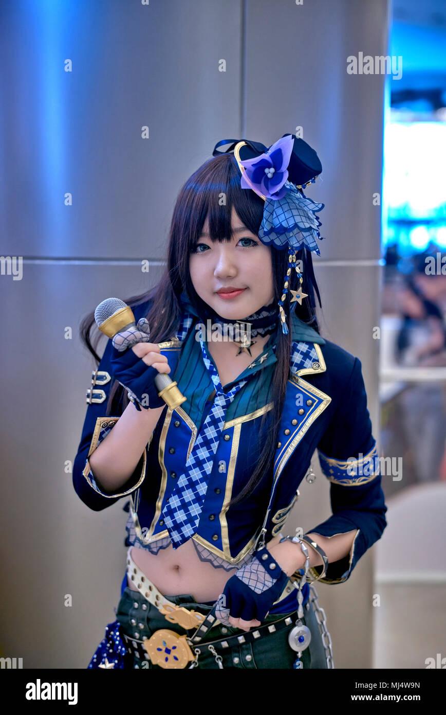 Comic Con Girl And Cosplay Girl Costumes Bangkok Thailand Southeast Asian