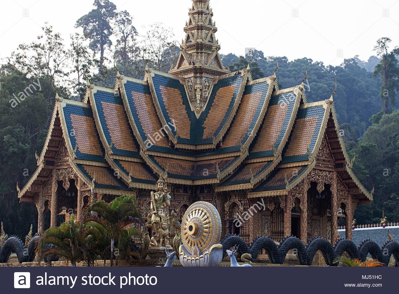 golden ancient buddhism wat phraphutthabat si roi thailand dhamma