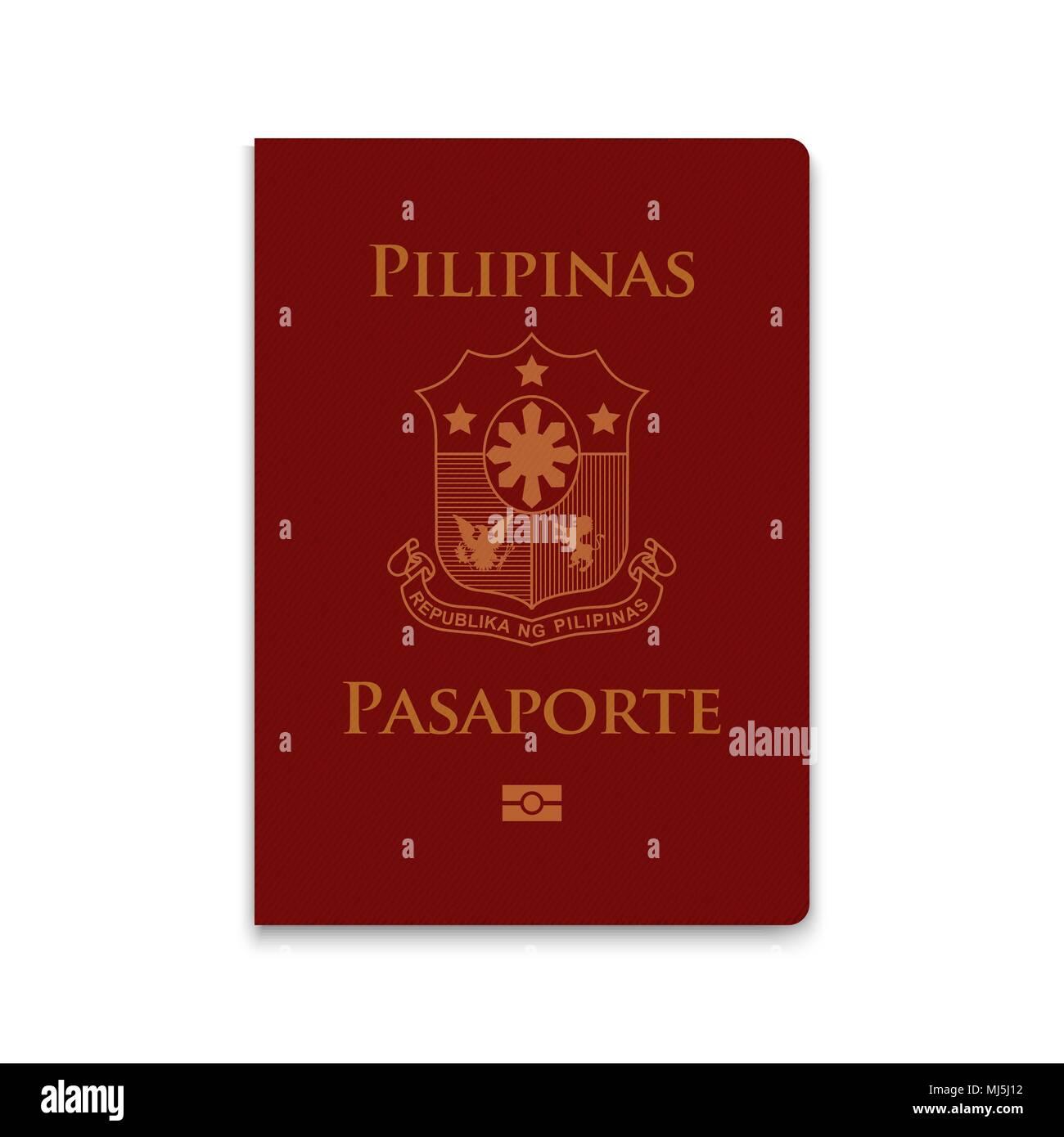 Passport of Philippines. Vector illustration - Stock Image