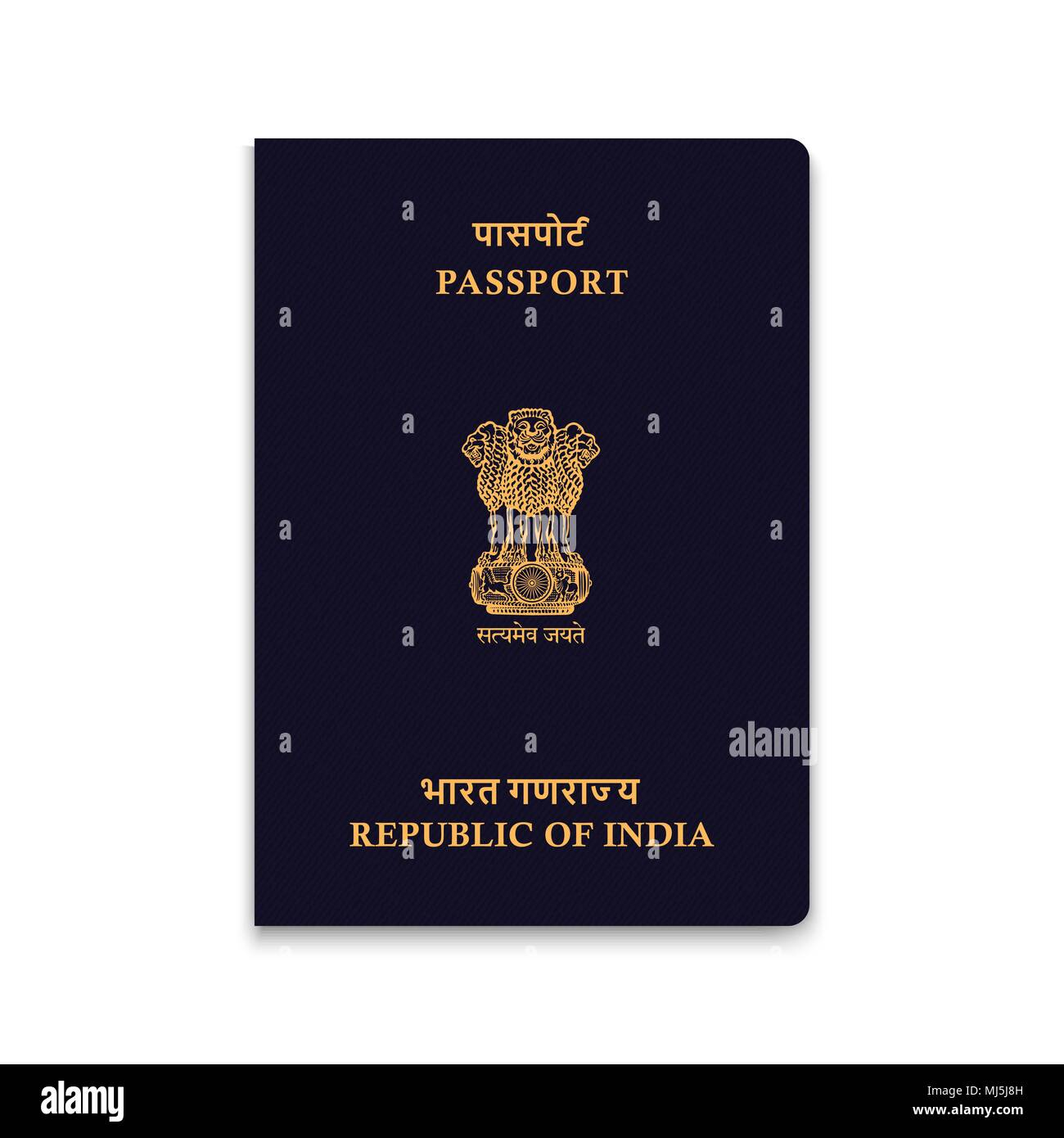 Passport of India. Vector illustration - Stock Image