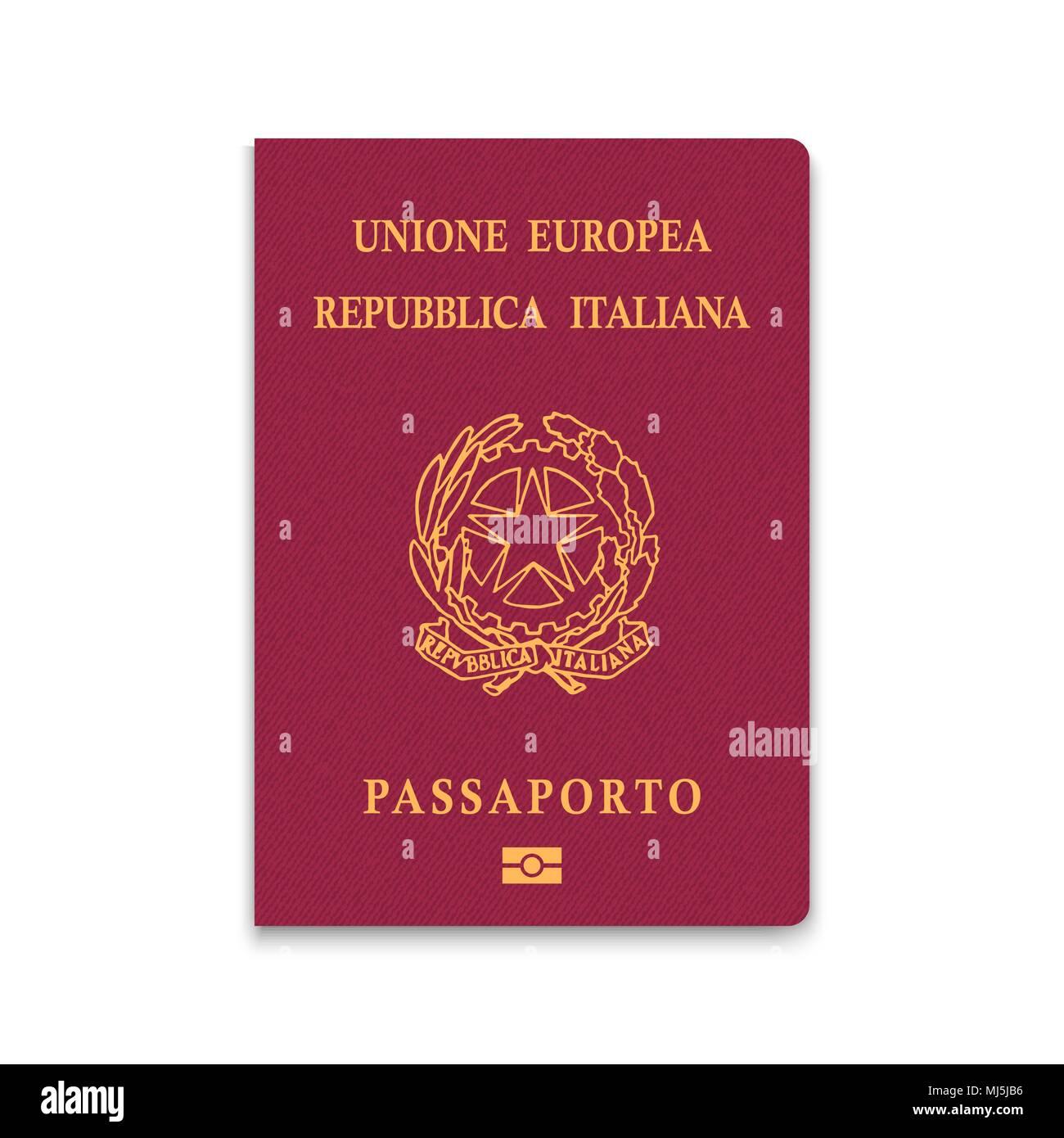 Passport of Italy. Vector illustration - Stock Image
