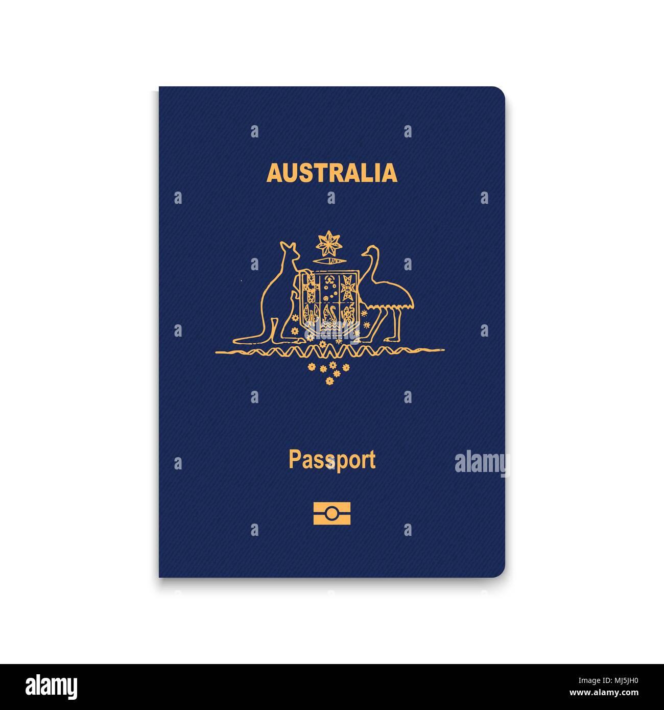 Passport of Australia. Vector illustration - Stock Image