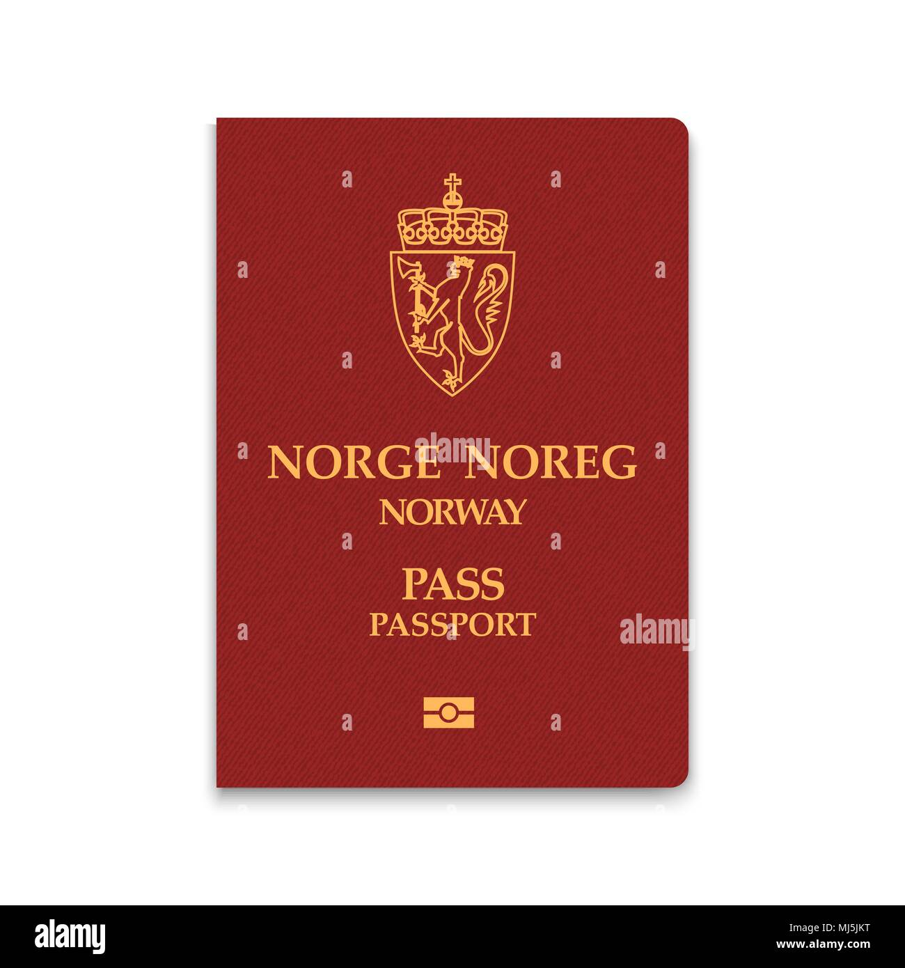 Passport of Norway. Vector illustration - Stock Image