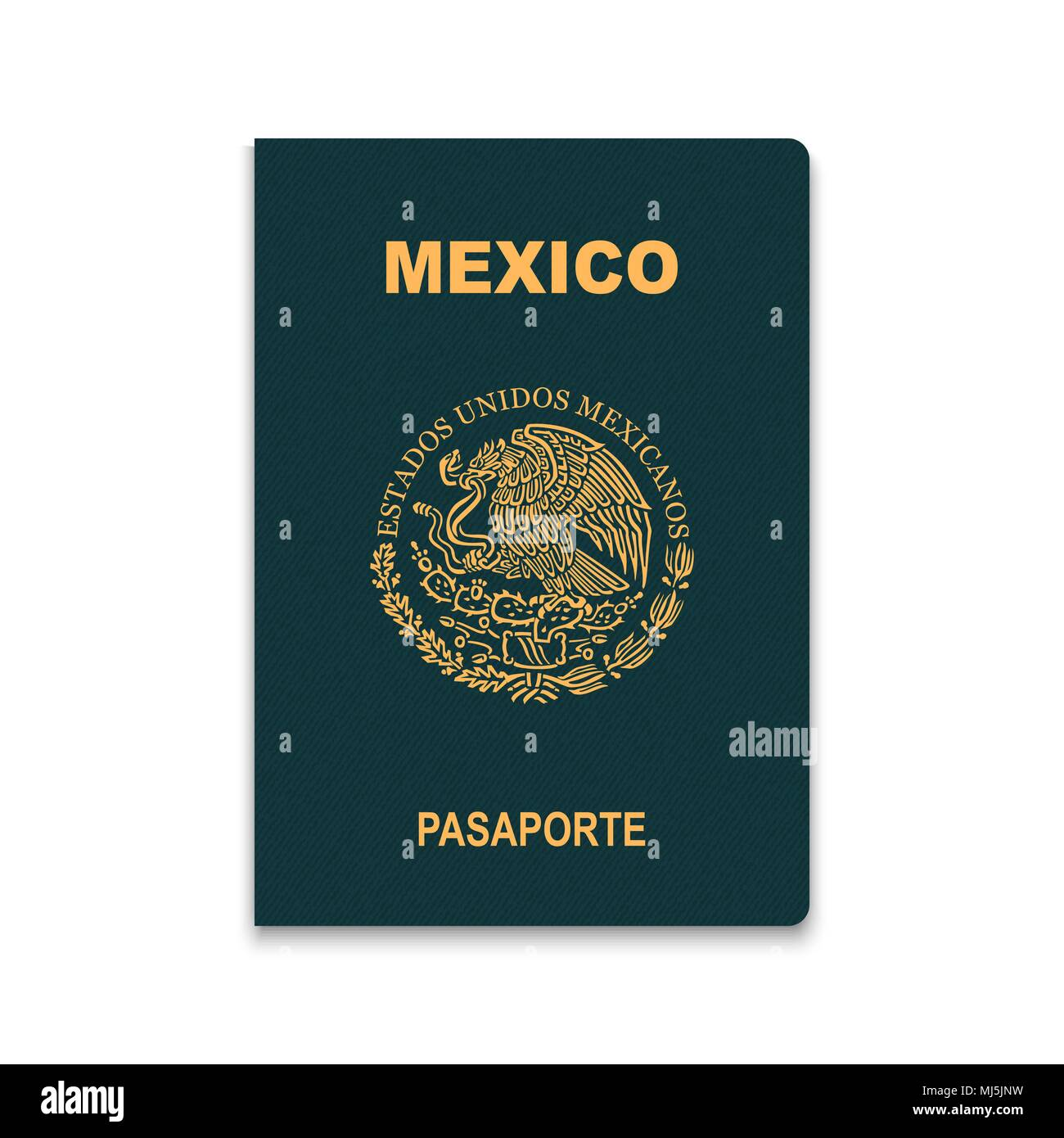 Passport of Mexico. Vector illustration - Stock Image