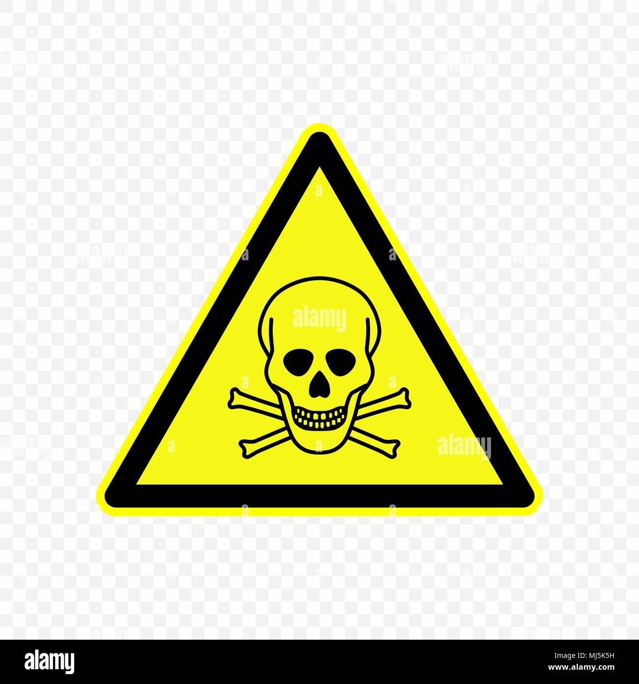 Toxic Warning Sign Hazard Symbols Stock Vector Art Illustration