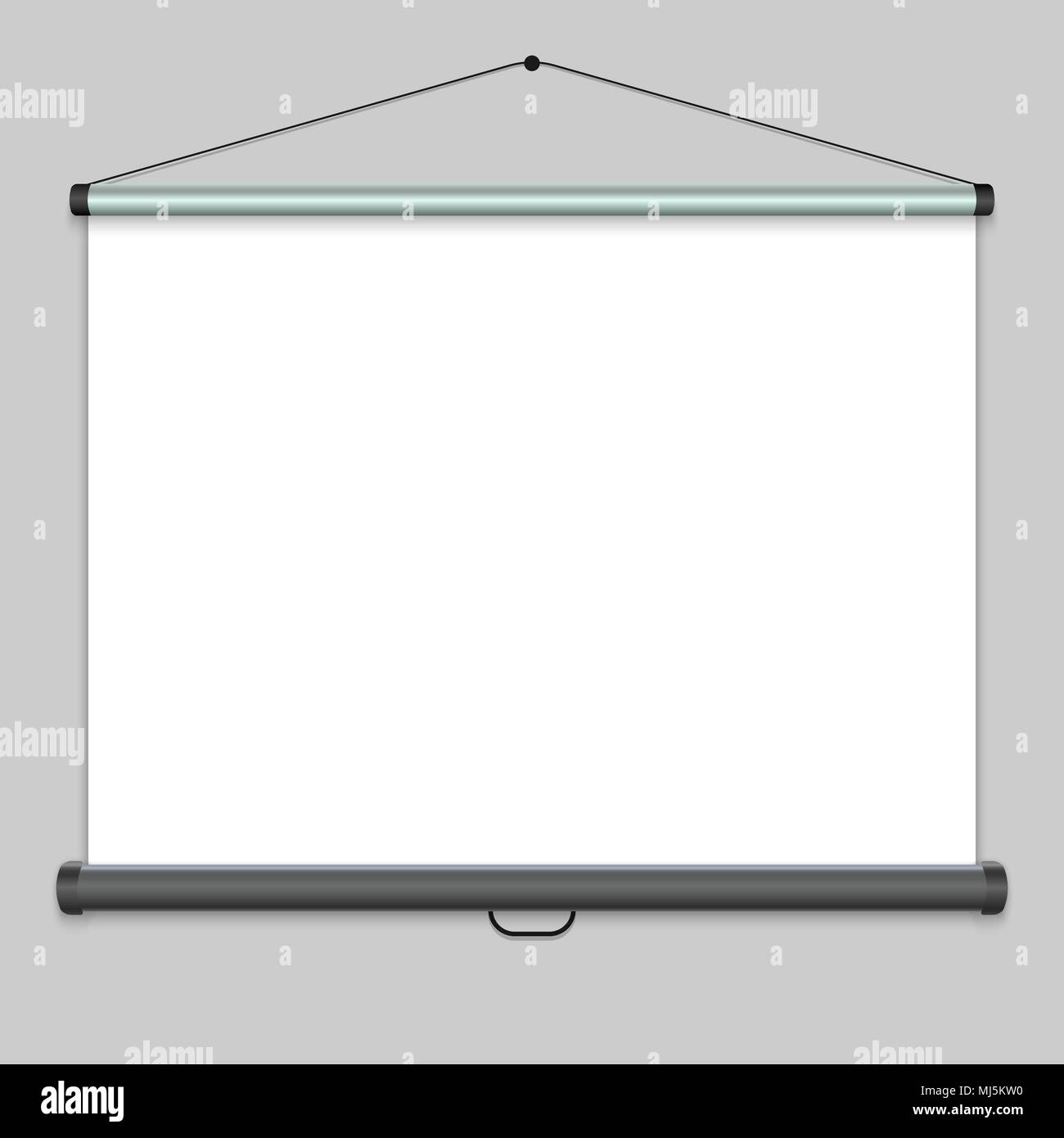3d realistic projection screen presentation whiteboard vector