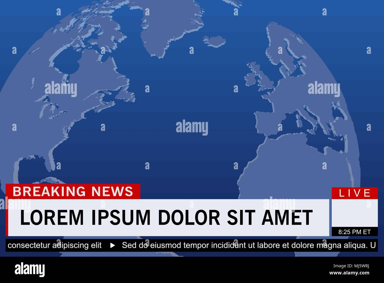 Breaking news live template on world map background vector breaking news live template on world map background vector illustration gumiabroncs Images