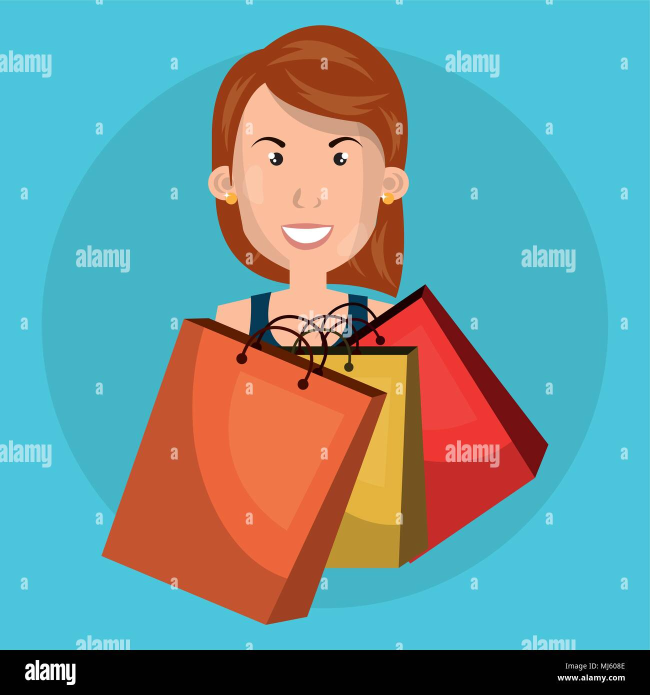 70f6a86b3 Woman Shopping Bags Stock Vector Images - Alamy