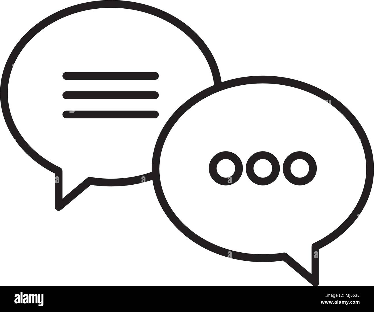 speech bubbles messages icon - Stock Image