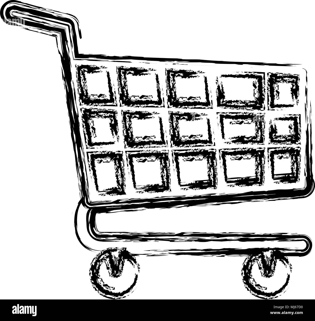 shopping cart isolated icon - Stock Vector