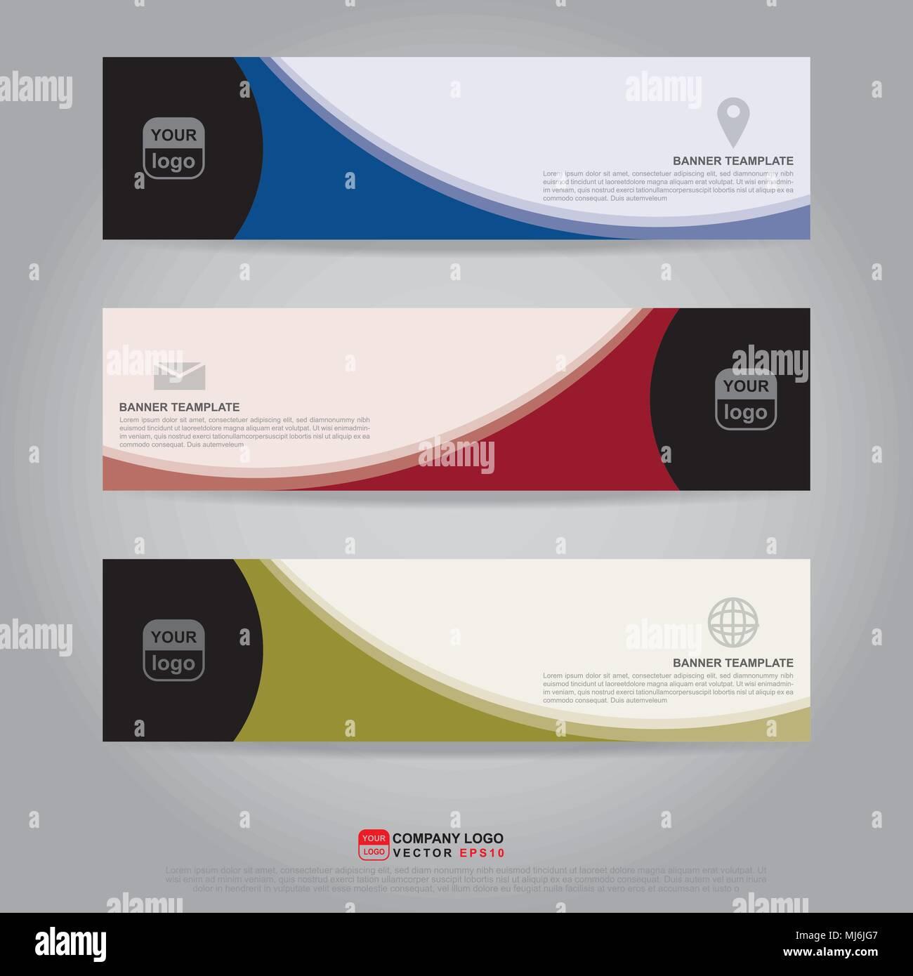 Template Of Banner Brochure Flyer And Card Voucher For Header Template Presentation Web Banner Business Design Vector Illustration Eps10 Cmyk Stock Vector Image Art Alamy